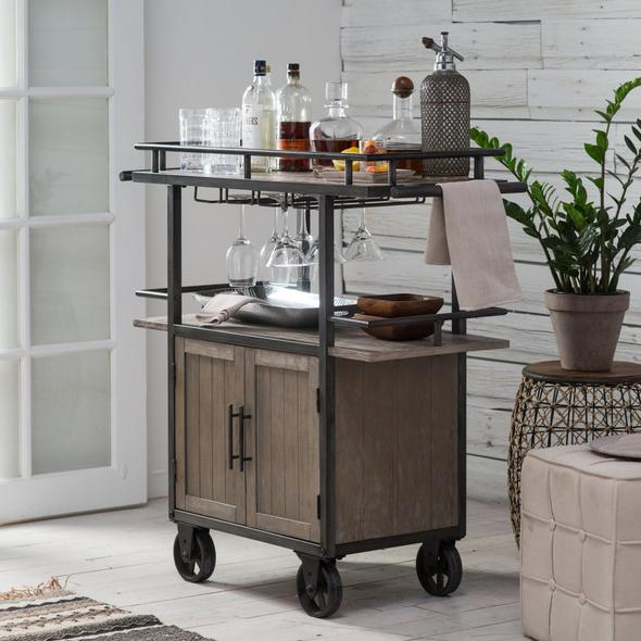 Platinum Tavern_Belham Living Jamestown Industrial Bar Cart