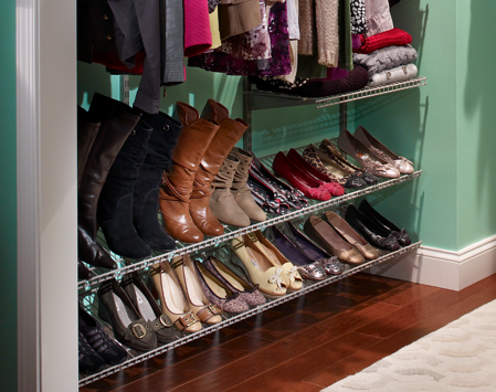 ShelfTrack Shoe Shelving