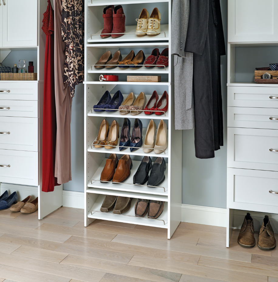 SuiteSymphony Pure White_Shoe Shelving Tower