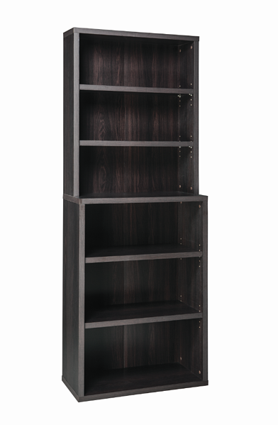 ClosetMaid 6-Shelf Hutch Bookcase_Black Walnut