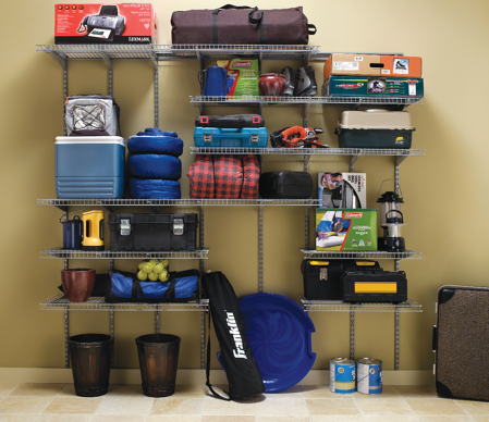 Heavy Duty Wire Shelving_Garage_Basement