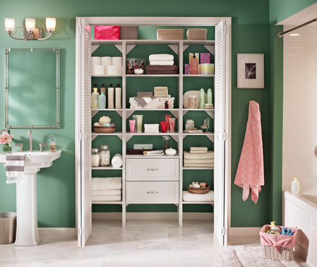 Bathroom Linen Closet_Selectives_ClosetMaid