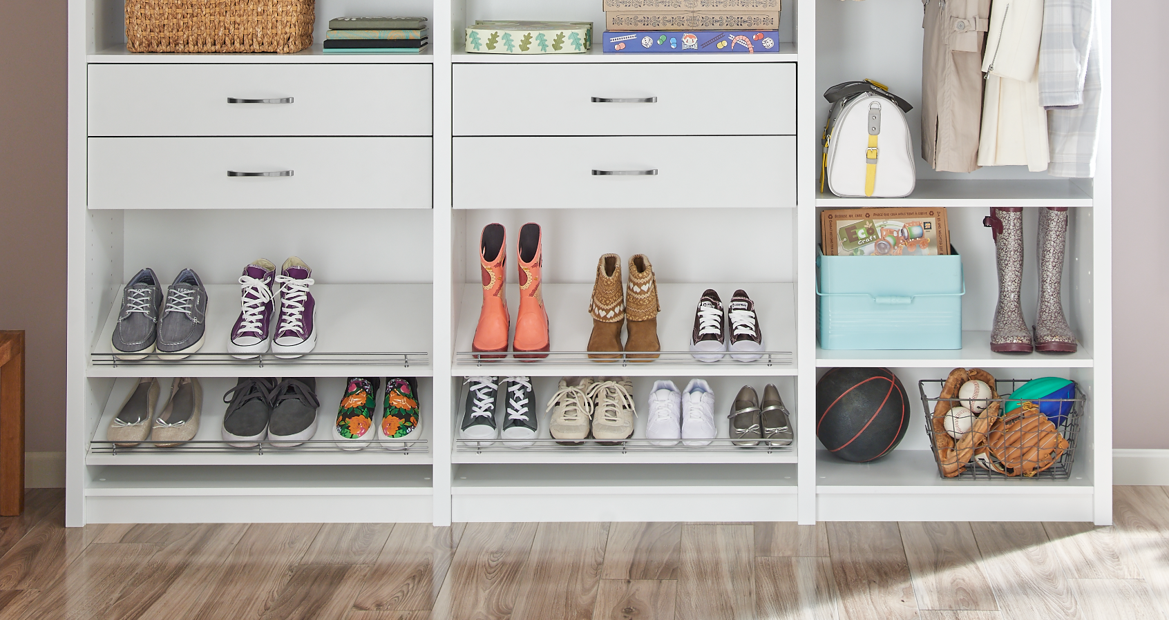 Mudroom_SpaceCreations Shoe Shelves