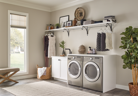 ClosetMaid Premium Wood Shelving_Laundry Room