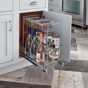 Premium Kitchen Cabinet Organizer_Triple Basket_