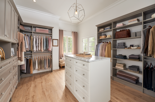 MasterSuite 27th Avenue_Timeless Taupe Custom Closet