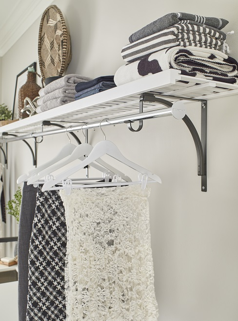 Laundry room hang rack