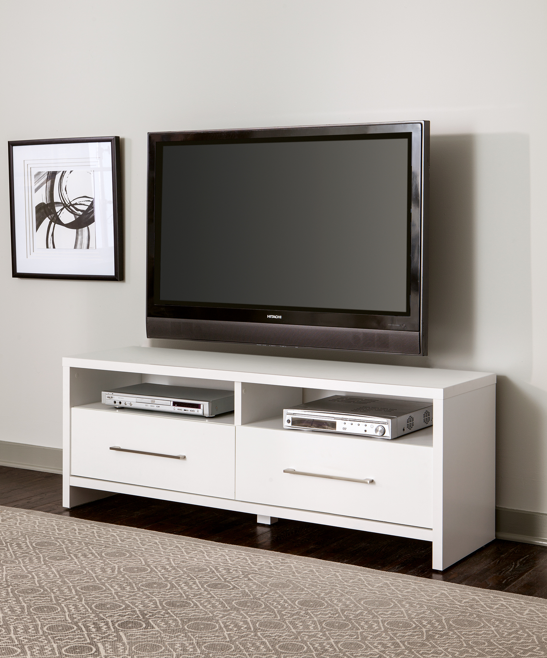 media cabinet with drawers