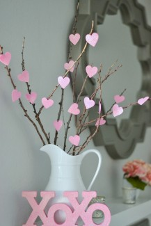 Valentine's Decorations - DIY heart tree