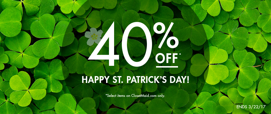 ClosetMaid's St. Patrick's Day Sale