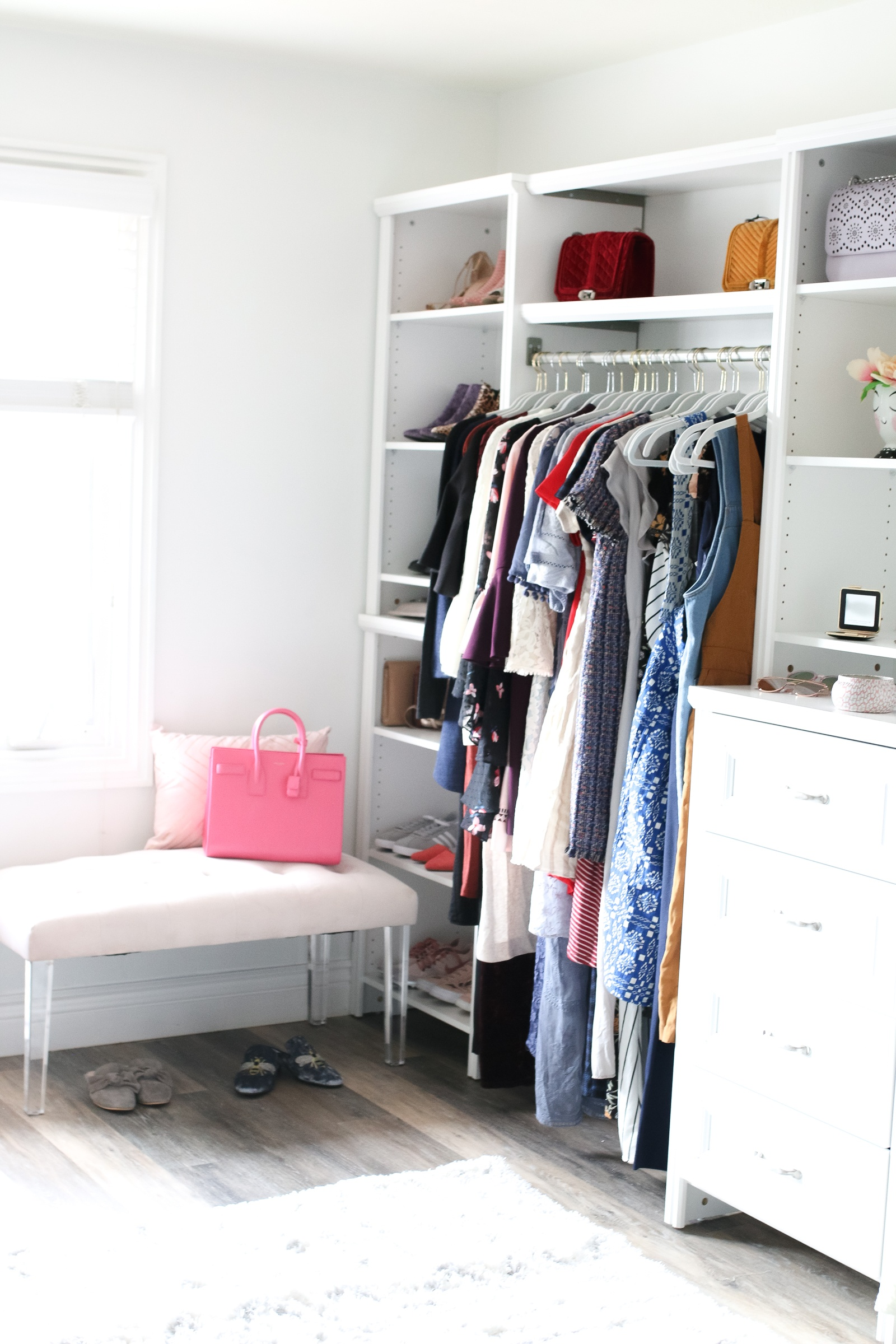 A Dressing Room and Office Closet Reveal from Sandy a la Mode