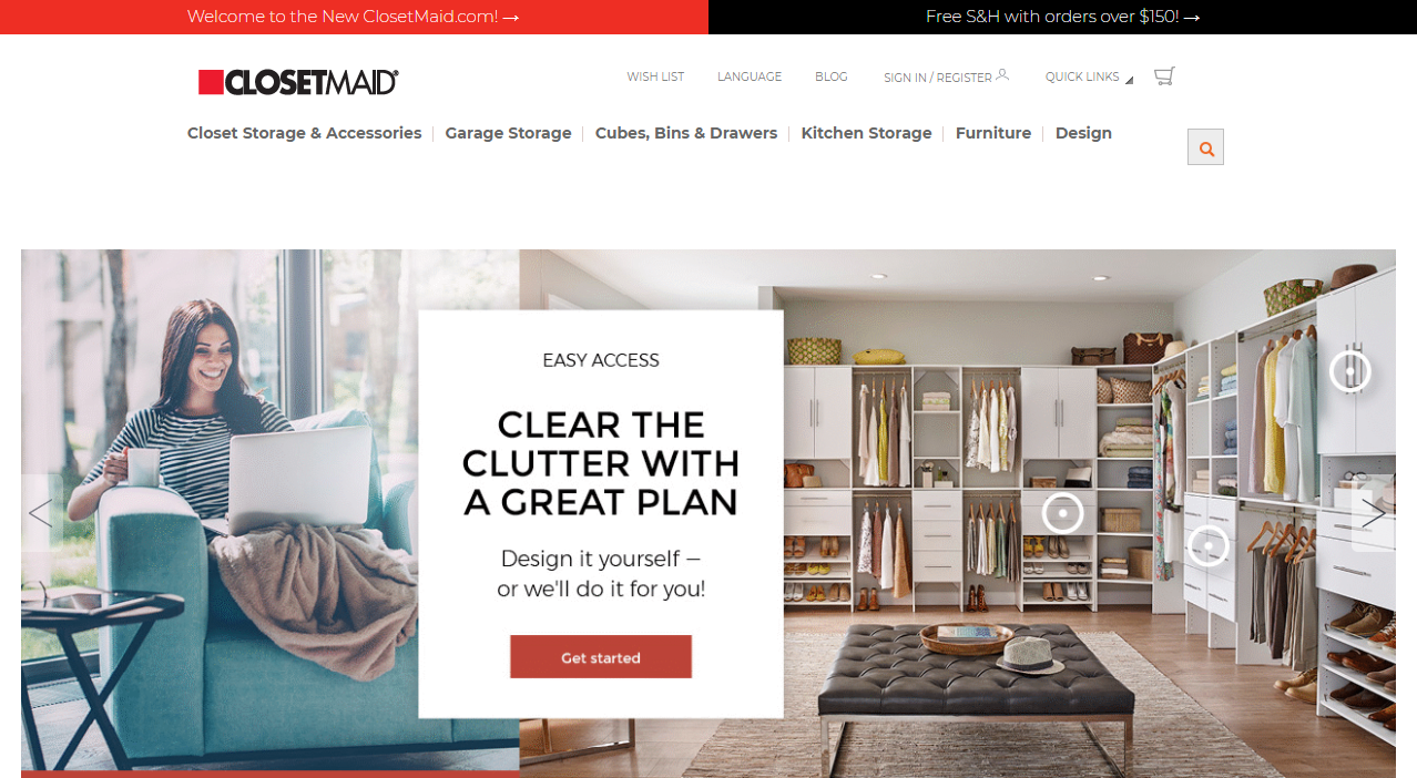 New ClosetMaid.com Features